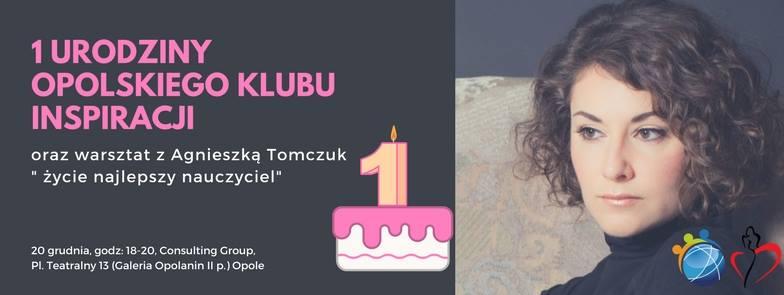 1 urodziny Klubu Inspiracji i warsztat z Agnieszką Tomczuk